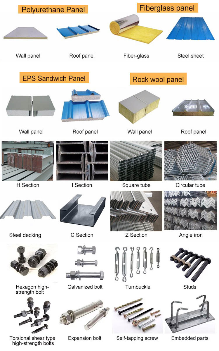 Industrial prefab steel structural multi storey warehouse building