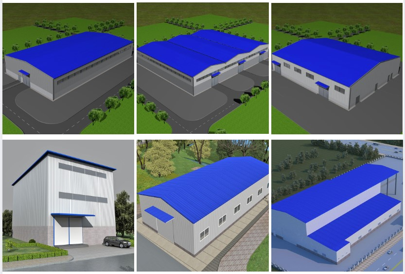Modern prefabricated construction steel structure material warehouse