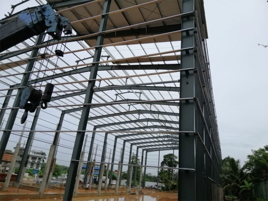 prefab multi storey warehouse building project