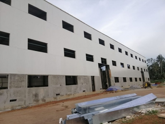 construction steel material warehouse
